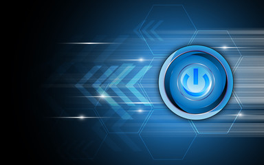 vector abstract power button technology concept background
