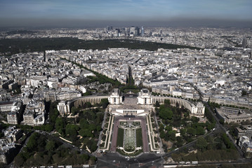 Panoramic Arial View of Paris from the Eiffel Tower