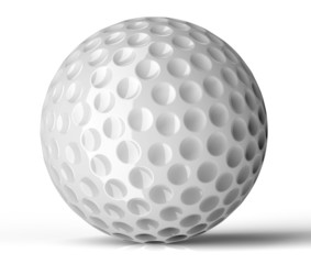 white golf ball isolated on background
