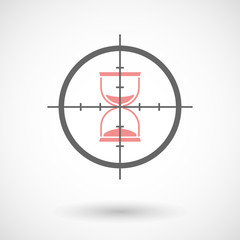 Crosshair icon targeting a sand clock
