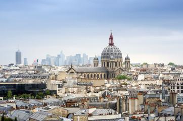 Fotobehang Delhi Saint-Augustin Church with Paris Skyline
