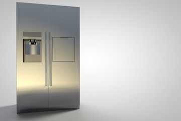 Refrigerator Kitchen Furniture Design silver modern large
