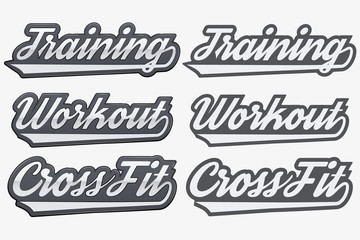 Tags Training Workout CrossFit in sports style.