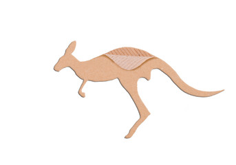 kangaroo shape paper box