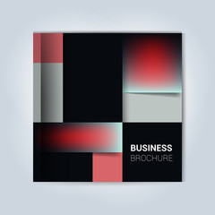 Brochure cover design. Geometric.