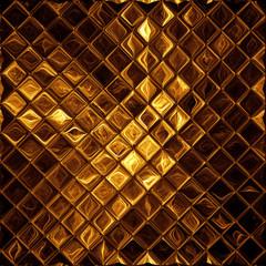 Luxury golden mosaic, shiny gold background