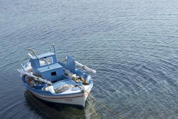 boat at Sigri lesvos, Lesvos