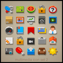 Toy multimedia icons 2