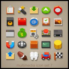 Toy multimedia icons 7