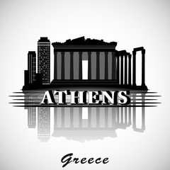 Modern Athens City Skyline Design. Greece
