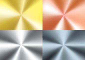 Set of Brushed metal background, vector