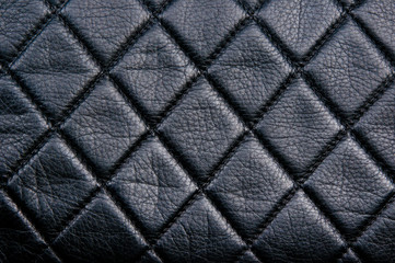 Black leather diamon pattern