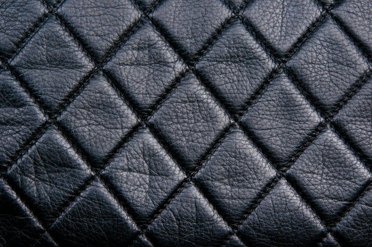 Black leather diamon pattern
