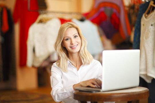 Shop assistant woman