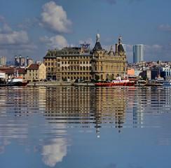 Haydarpasha with reflections Istanbul Turkey