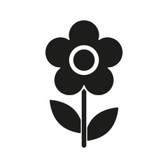 The flower icon. Nature symbol. Flat