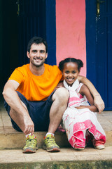 Photography of a caucasic man with an ethiopian girl