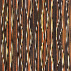 Abstract decorative paneling - seamless background - waves decor