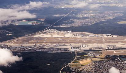 aerial of Frankfurt international airport