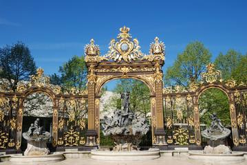 Neptune fountain on Place Stanislas In Nancy, Lorraine, France