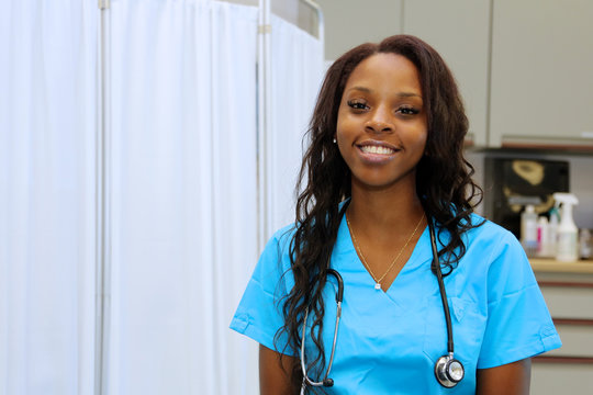 Young Female African American Healthcare Professional, nurse