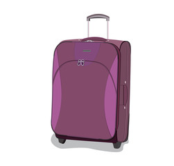 travel, bag, luggage, vector, flat style