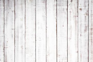 Wall Murals Wood 白い木板のテクスチャ背景