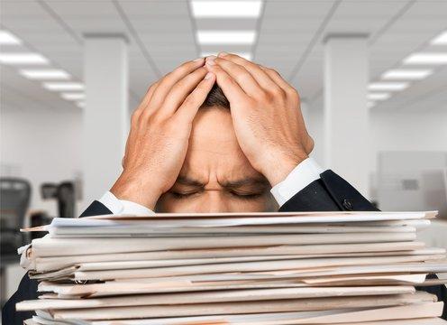 Emotional Stress, Paper, Stack.