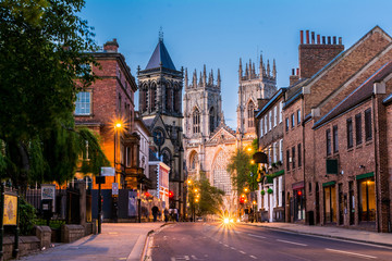 York , Yorkshire,England, UK, night view