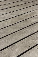 Wooden floor / Wooden floor of  the outdoor terrace