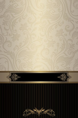 Wall Mural - Vintage background with elegant patterns.