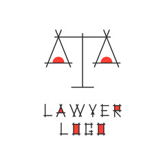 lawyer logotype with abstract scales