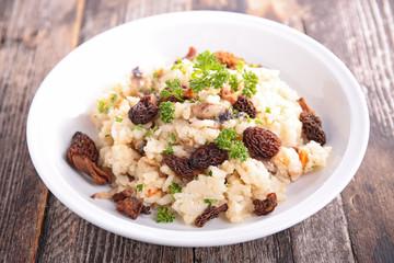 risotto and mushroom