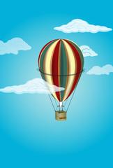 air balloon against the blue sky