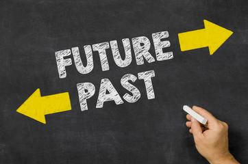 Future or Past written on a blackboard
