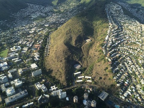 Aerial view of St. Louis Heights, Manoa and the University of Hawaii