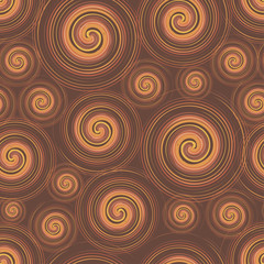Chocolate swirl seamless pattern, flat elements