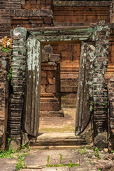 library in ruins in the archaeological pre rup place in siam reap, cambodia