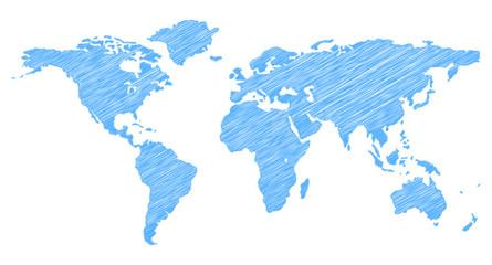 Scribble Weltkarte
