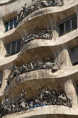 Barcelona architecture closeup