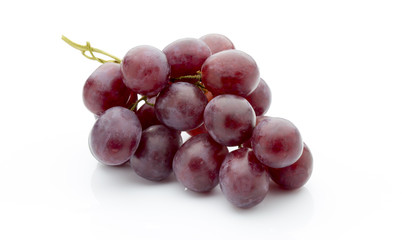 Grape on the white background. Fresh  berry.