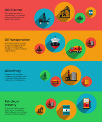 Oil vector, petrolium industry, production transportation and