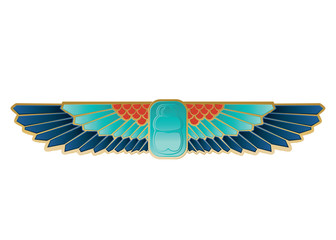 Egyptian Icon Beetle Wings