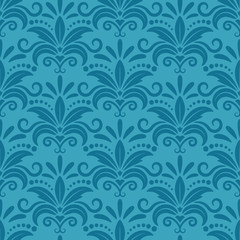 Royal wallpaper with damask seamless floral pattern
