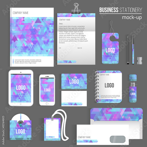 Vector triangle blank corporate identity set of stationery branding vector triangle blank corporate identity set of stationery branding consist of letterhead book reheart Images