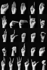 Sign language: American alphabet