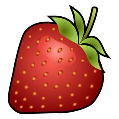 Strawberry fruit isolated on white background