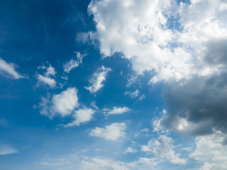 white and black cloud on blue sky, abstract background