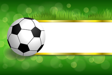 Background abstract green football soccer sport ball