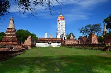 Prang of Puttaisawan temple in Ayutthaya, Thailand
